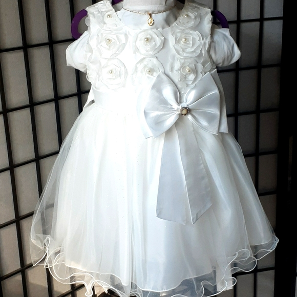 Dress formal for baby, baptismal or party 12-18 m